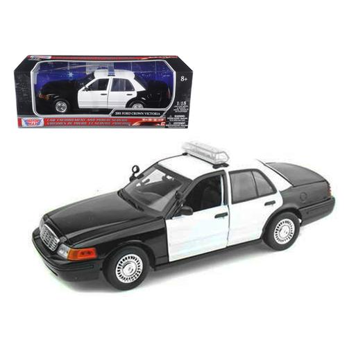 Ford Crown Victoria Unmarked Police Car 1/18 Diecast Model Car by Motormax F977-73516