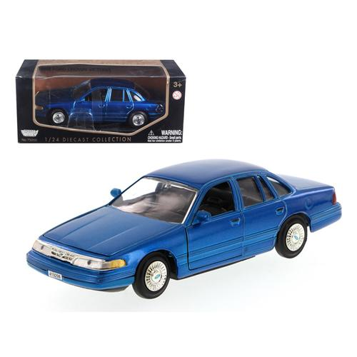 1998 Ford Crown Victoria Blue 1/24 Diecast Model Car by Motormax F977-76102bl