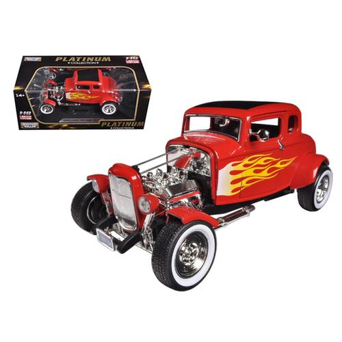 1932 Ford Hot Rod Red with Flames Limited Edition / Platinum Collection 1/18 Diecast Model Car by M F977-77172r