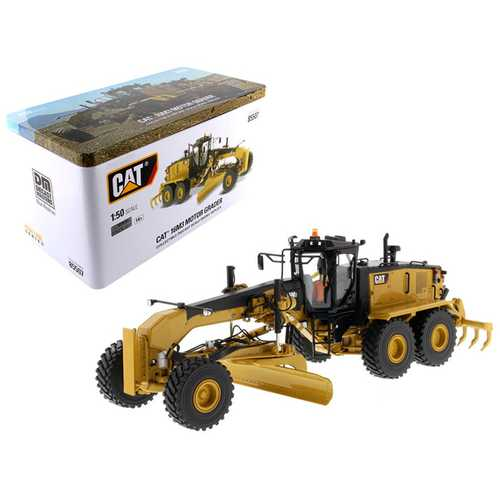 "CAT Caterpillar 16M3 Motor Grader with Operator ""High Line Series"" 1/50 Diecast Model by Diecast Ma F977-85507"
