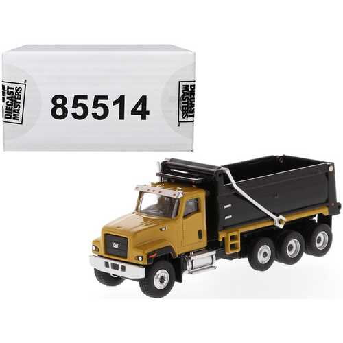 "CAT Caterpillar CT681 Dump Truck Yellow and Black ""High Line"" Series 1/87 (HO) Scale Diecast Model  F977-85514"