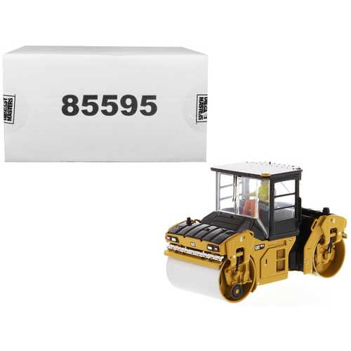 "CAT Caterpillar CB-13 Tandem Vibratory Roller with Cab and Operator ""High Line Series"" 1/50 Diecast F977-85595"