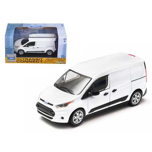 2014 Ford Transit Connect (V408) Van White 1/43 Diecast Model Car by Greenlight F977-86044