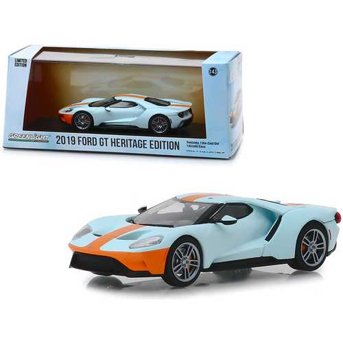 "2019 Ford GT Heritage Edition ""Gulf Oil"" Color Scheme 1/43 Diecast Model Car by Greenlight F977-86158"