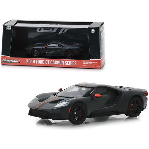 2019 Ford GT Carbon Series with Orange Accents 1/43 Diecast Model Car by Greenlight F977-86160