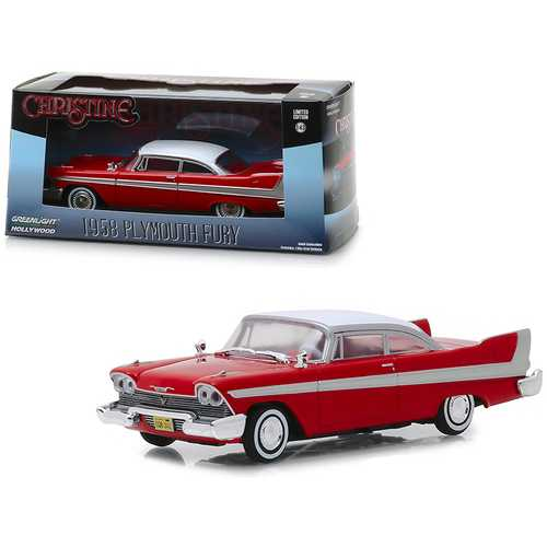 "1958 Plymouth Fury Red ""Christine"" (1983) Movie 1/43 Diecast Model Car by Greenlight F977-86529"