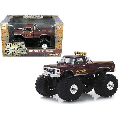 "1979 Ford F-250 Ranger Monster Truck with 66-Inch Tires ""Goliath"" 1/43 Diecast Model Car by Greenli F977-88023"