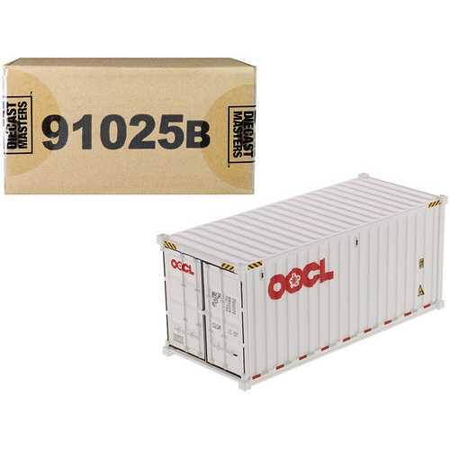 "20' Dry Goods Sea Container ""OOCL"" White ""Transport Series"" 1/50 Model by Diecast Masters F977-91025B"