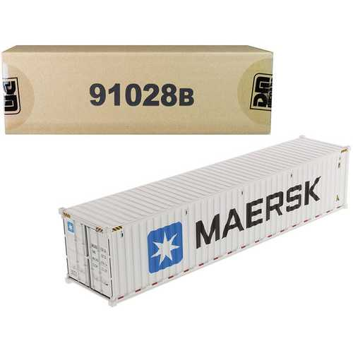 "40' Refrigerated Sea Container ""MAERSK"" White ""Transport Series"" 1/50 Model by Diecast Masters F977-91028B"