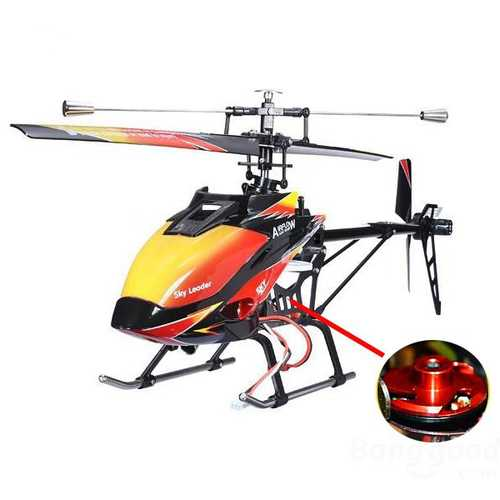 Original WLtoys V913 Brushless Version 2.4G 4CH RC Helicopter BNF C122-944786