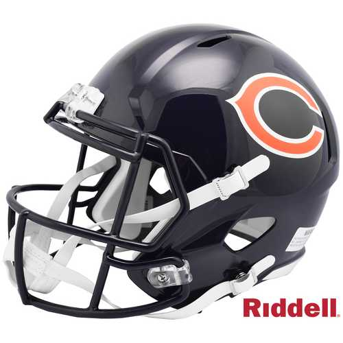 Chicago Bears Helmet Riddell Replica Full Size Speed Style 100th Season Design Special Order Z157-9585532380