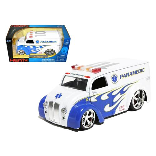 Div Cruiser Bus Paramedics Ambulance 1/24 Diecast Model Car by Jada F977-96237