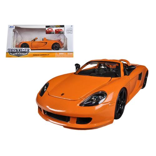 2005 Porsche Carrera GT Orange 1/24 Diecast Car Model by Jada F977-96955or