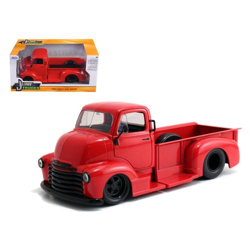 1952 Chevrolet COE Pickup Truck Red with Black Wheels 1/24 Diecast Model by Jada F977-97046