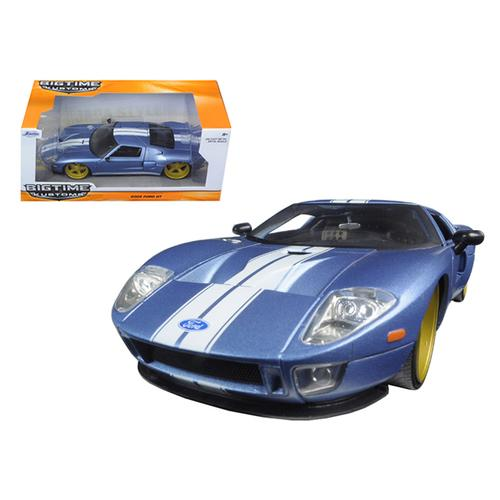 2005 Ford GT Blue 1/24 Diecast Model Car by Jada F977-97366AB-bl