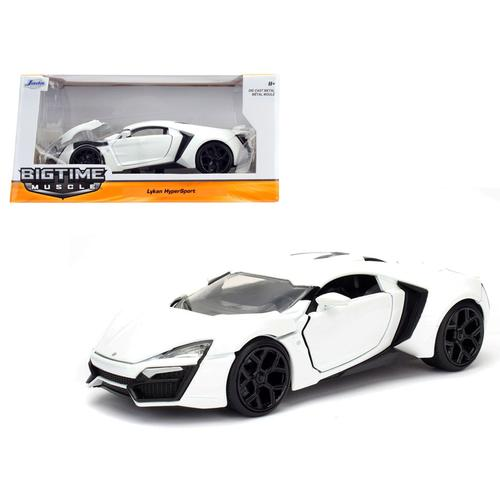 Lykan Hypersport White 1/24 Diecast Model Car by Jada F977-98028