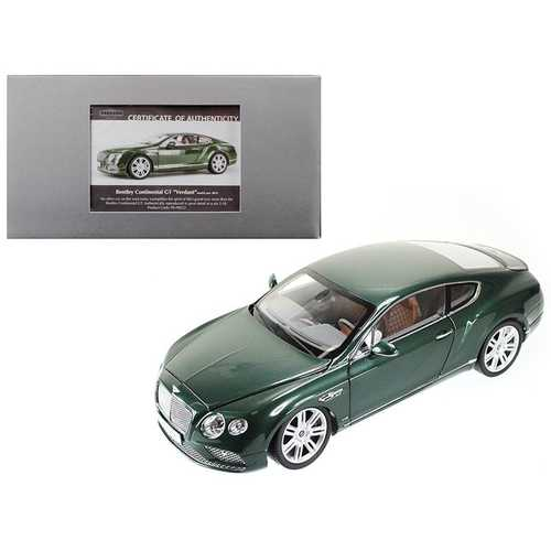 2016 Bentley Continental GT LHD Verdant Green 1/18 Diecast Model Car by Paragon F977-98222