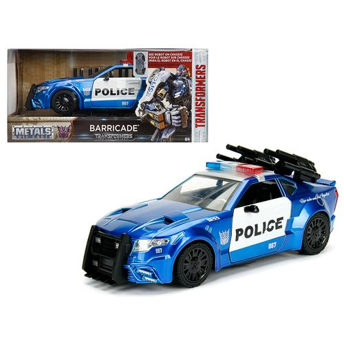"Barricade Custom Police Car From ""Transformers"" Movie 1/24 Diecast Model Car by Jada Metals F977-98400"