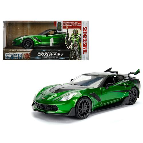 "2016 Chevrolet Corvette Crosshairs Green From ""Transformers"" Movie 1/24 Diecast Model Car by Jada M F977-98499"