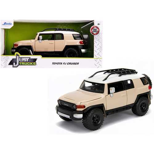 "Toyota FJ Cruiser with Roof Rack Beige with White Top ""Just Trucks"" 1/24 Diecast Model Car by Jada F977-99319"