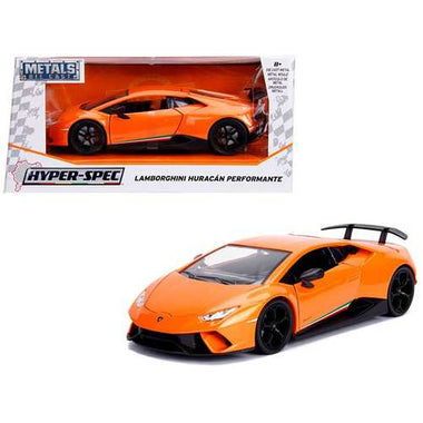"Lamborghini Huracan Perfomante Metallic Orange ""Hyper-Spec"" 1/24 Diecast Model Car by Jada F977-99355"