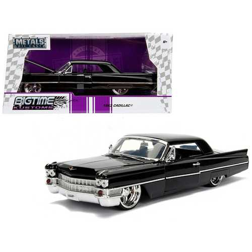 1963 Cadillac Black 1/24 Diecast Model Car by Jada F977-99550