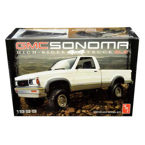 Skill 2 Model Kit 1993 GMC Sonoma SLE 4x4 High-Rider Pickup Truck 1/20 Scale Model by AMT F977-AMT1057