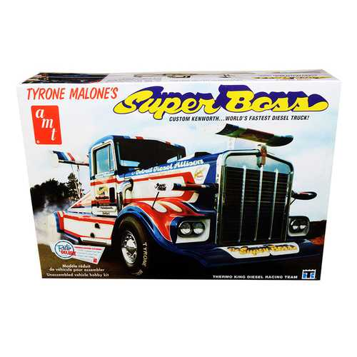 "Skill 3 Model Kit Tyrone Malone's Kenworth ""Super Boss"" Drag Truck 1/25 Scale Model by AMT F977-AMT930"