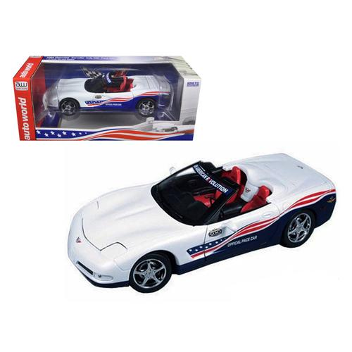 2004 Chevrolet Corvette Indy Pace Car 1/18 Diecast Model Car by Autoworld F977-AW204