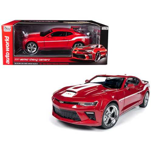 2017 Chevrolet Camaro Yenko Coupe Red with White Stripes Limited Edition to 1002 pieces Worldwide 1 F977-AW246