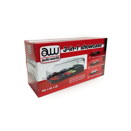 Collectible Display Show Case for 1/64 1/43 1/24 Diecast Models by Autoworld F977-AWDC004