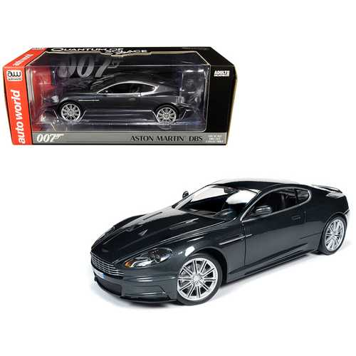 "Aston Martin DBS Quantum Silver / Dark Gray Metallic (James Bond 007) ""Quantum of Solace"" (2008) Mo F977-AWSS123"