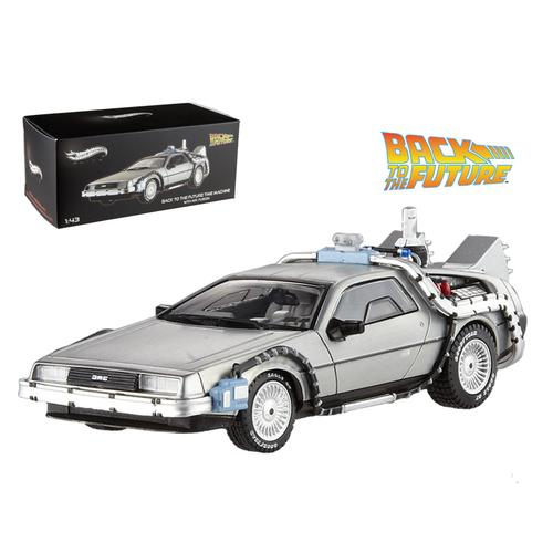 Delorean DMC-12 Back To The Future Time Machine With Mr. Fusion 1/43 Diecast Model Car by Hotwheels F977-BCK08