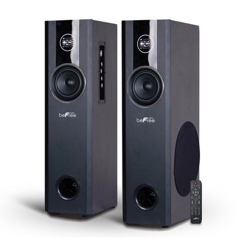 beFree Sound 2.1 Channel Bluetooth Powered Black Tower Speakers D970-BFS-T120-RB