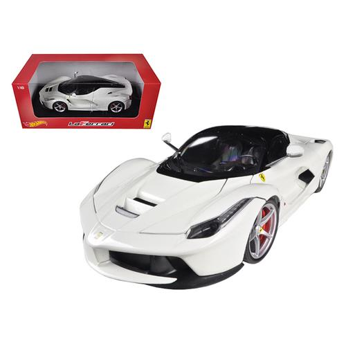 Ferrari Laferrari F70 Hybrid White 1/18 Diecast Car Model by Hotwheels F977-BLY54