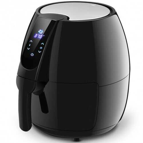 1500 W 4.8 Quart Electric LCD Touch Screen Timer Air Fryer-Black
