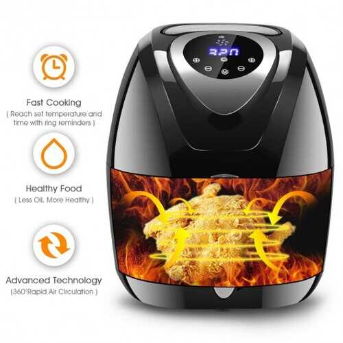 Oil Free Timer and Temperature Control Electric Air Fryer B593-EP23238