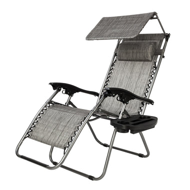 Foldable Zero Gravity Lounge Chair Recliner With Awning Leisure Sunshade Adjustable Outdoor  Garden Nap Bed Sleeping Chair