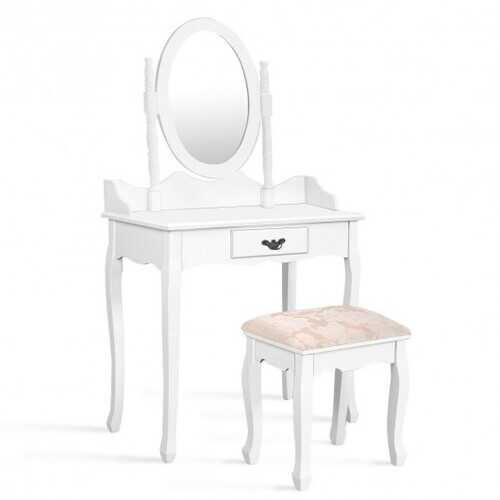 Vanity Makeup Dressing Table Stool Set-White B593-HW52600color