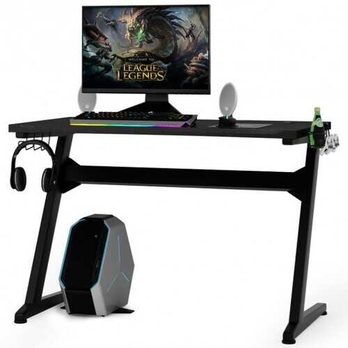 Cup & Headphone Holder Z-shape Frame E-sports Gaming Desk