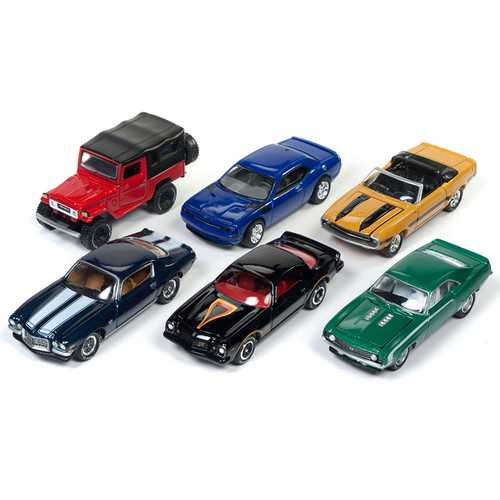 Classic Gold 2017 Release 4 Set B of 6 cars 1/64 Diecast Model Cars by Johnny Lightning F977-JLCG012B