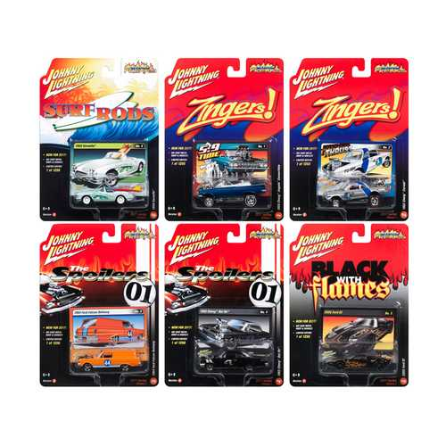 Street Freaks 2017 Release 1C Set of 6 cars 1/64 Diecast Model Cars by Johnny Lightning F977-JLSF003-C