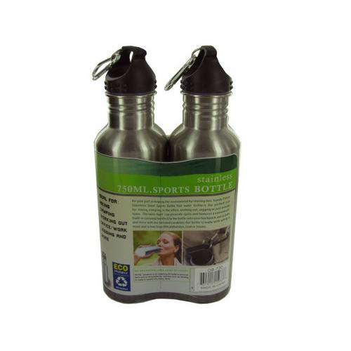 24 oz Stainless Steel Sports Bottle Set ( Case of 3 ) U975-OB730-3