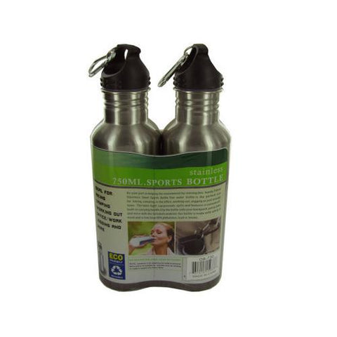 24 oz Stainless Steel Sports Bottle Set ( Case of 4 ) U975-OB730-4