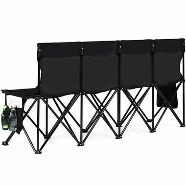 Folding 4 Seats Sports Sideline Bench Outdoor with Side Bag B593-OP3882