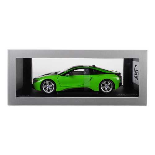 BMW i8 Java Green with Black Top 1/18 Diecast Model Car by Paragon F977-PA97086