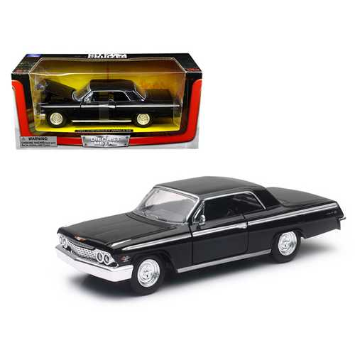 1962 Chevrolet Impala SS Black 1/24 Diecast Model Car by New Ray F977-SS-71843BK