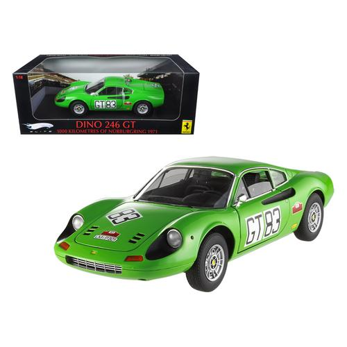 Ferrari Dino 246 GT #83 1000km of 1971 Nurburgring Elite Edition 1/18 Diecast Car Model by Hotwheels F977-T6260