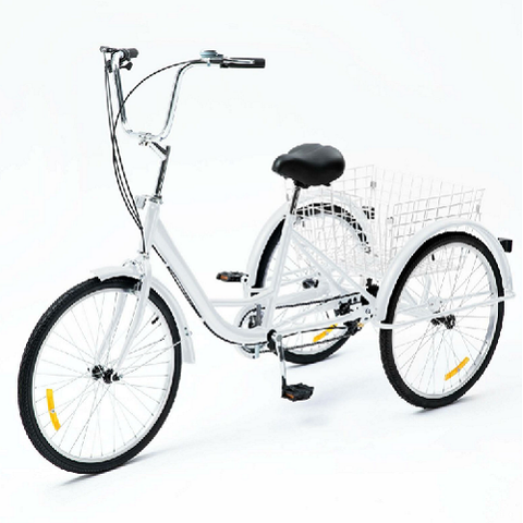 "24"" 26"" Tricycle Adult 3 Wheel Trike 3 Wheel Bike 8 Speed for shopping/outing/exercising"
