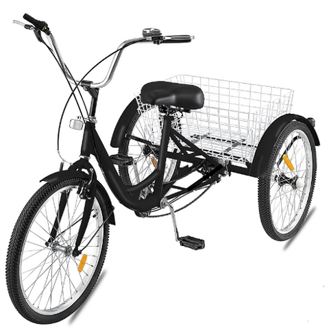"26"" Tricycle Adult  3 Wheel Tricycle 1 Speed for Shopping/Outing/Exercise"